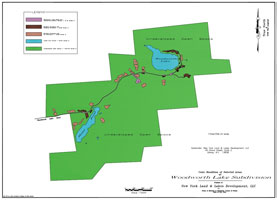 Woodworth Lake Map