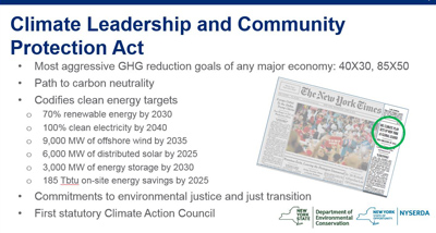 Climate Leadership and Protection Act Goals