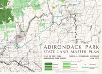 Adirondack Park State Land Master Plan Map